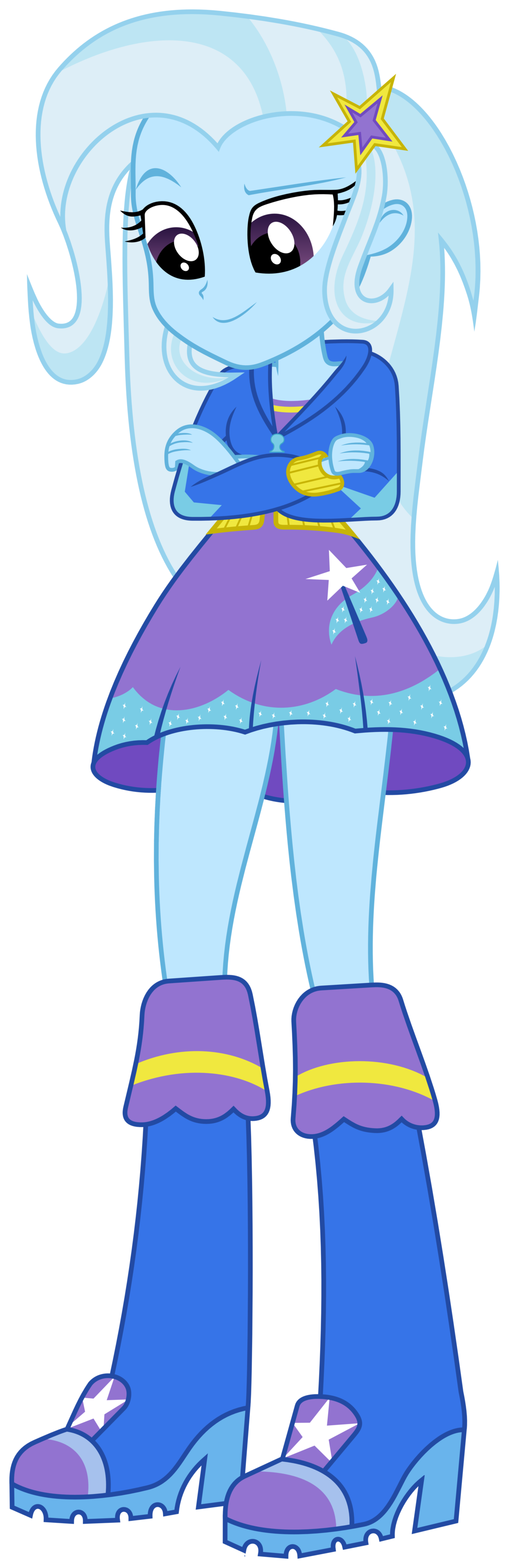 Mlp the great and. Trixie vector eqg banner transparent library