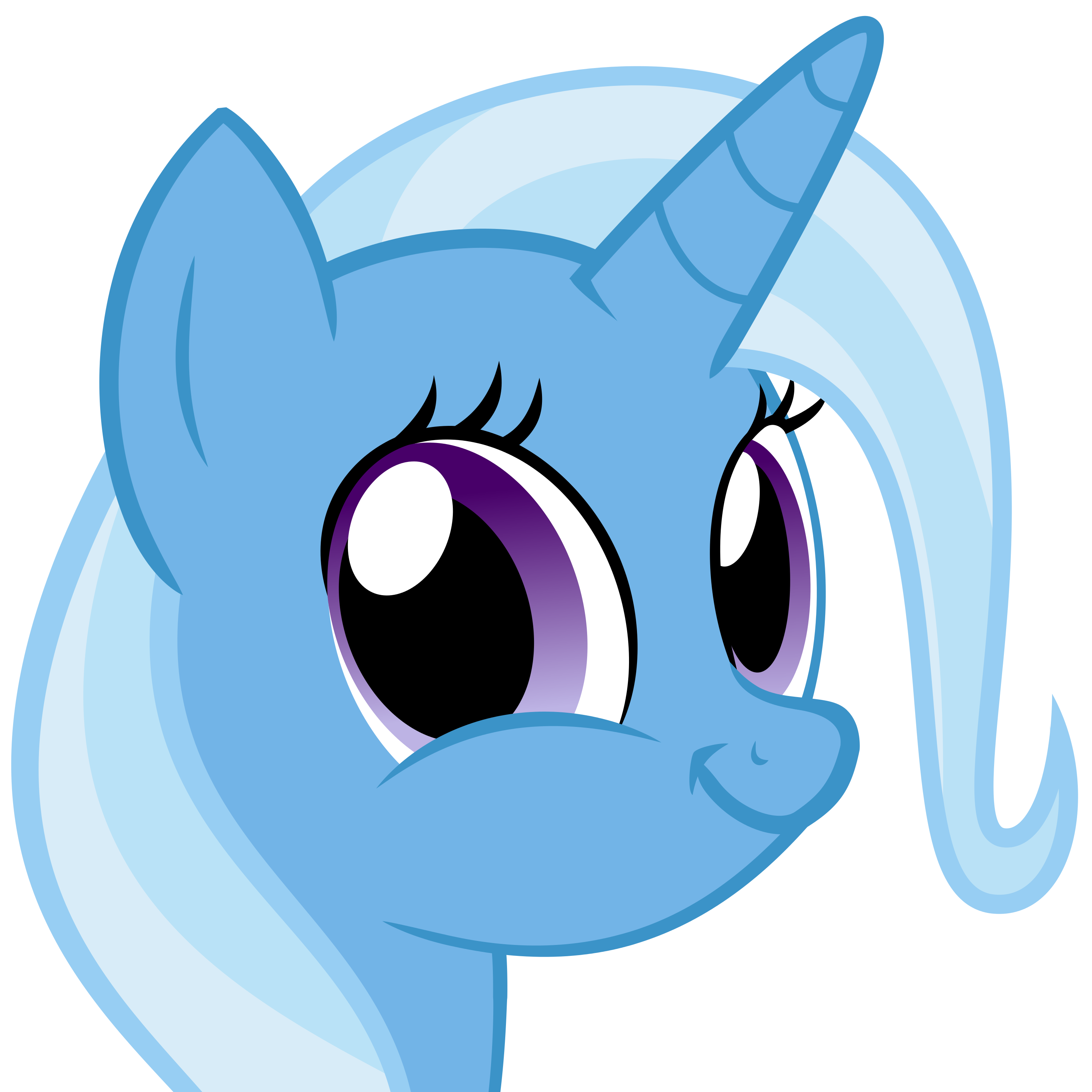 Trixie vector face. Artist the smiling