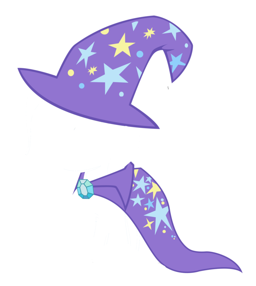 Trixie vector hat. Filly s and cape