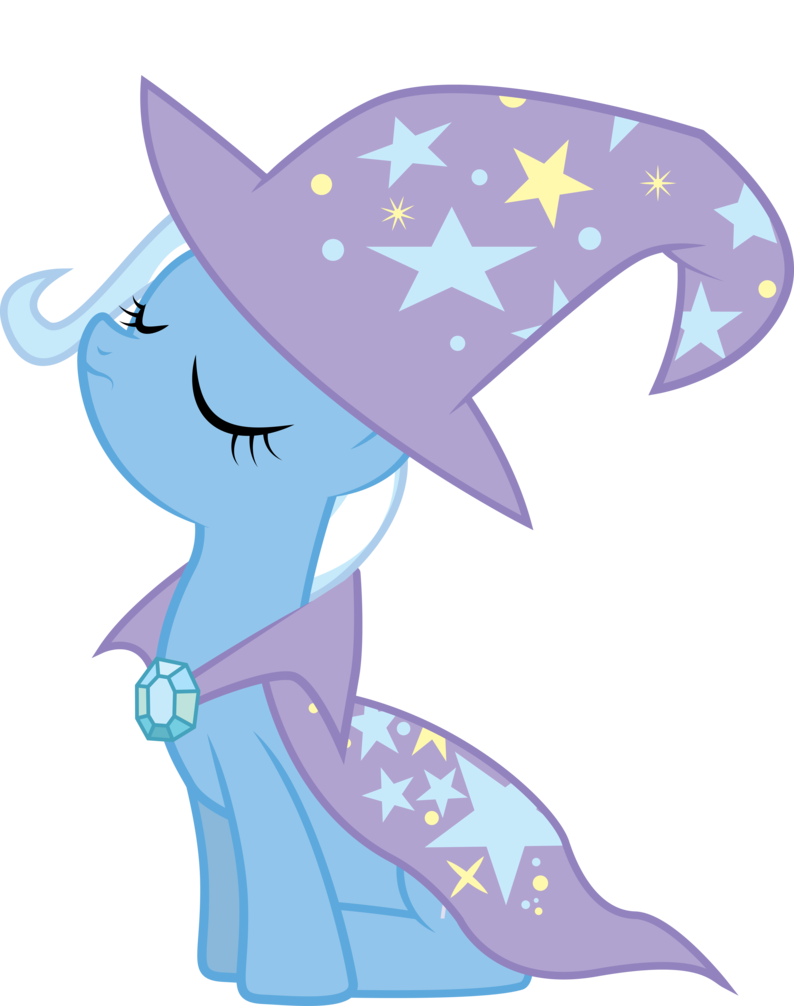 Trixie vector hat. W cape and by