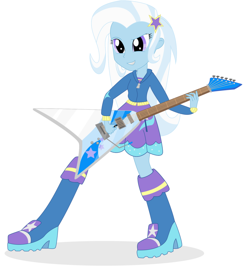 Trixie vector rainbow rocks. Lulamoon equestria girls by