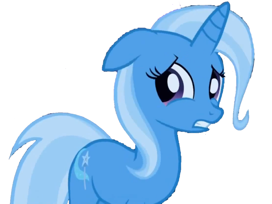 Trixie vector sad. Scared by theponydream on