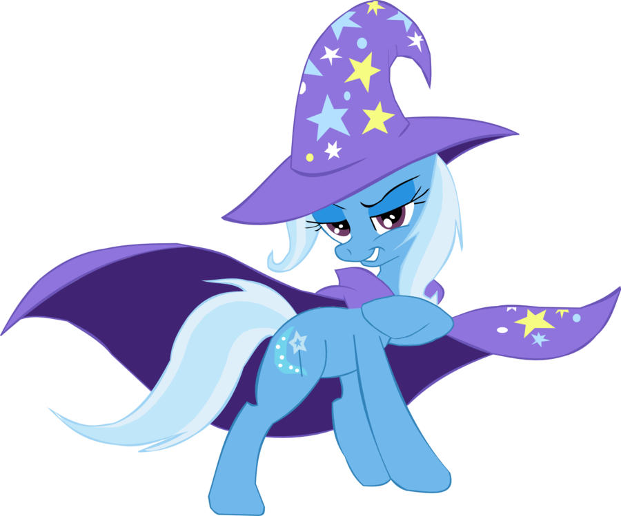 Trixie vector unicorn. The great and powerful
