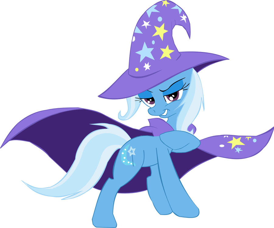 The great and powerful. Trixie vector unicorn banner transparent library