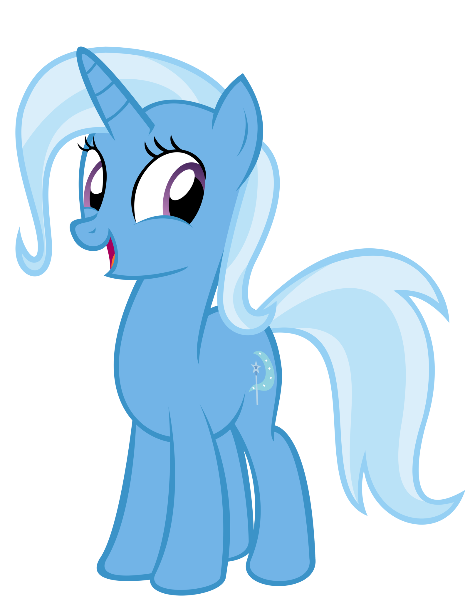 Trixie vector unicorn. The cute and adorable