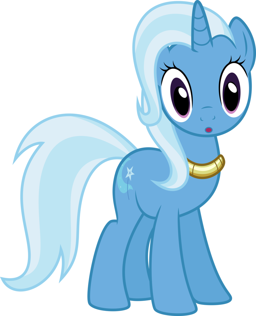 Trixie vector unicorn. The great and shocked