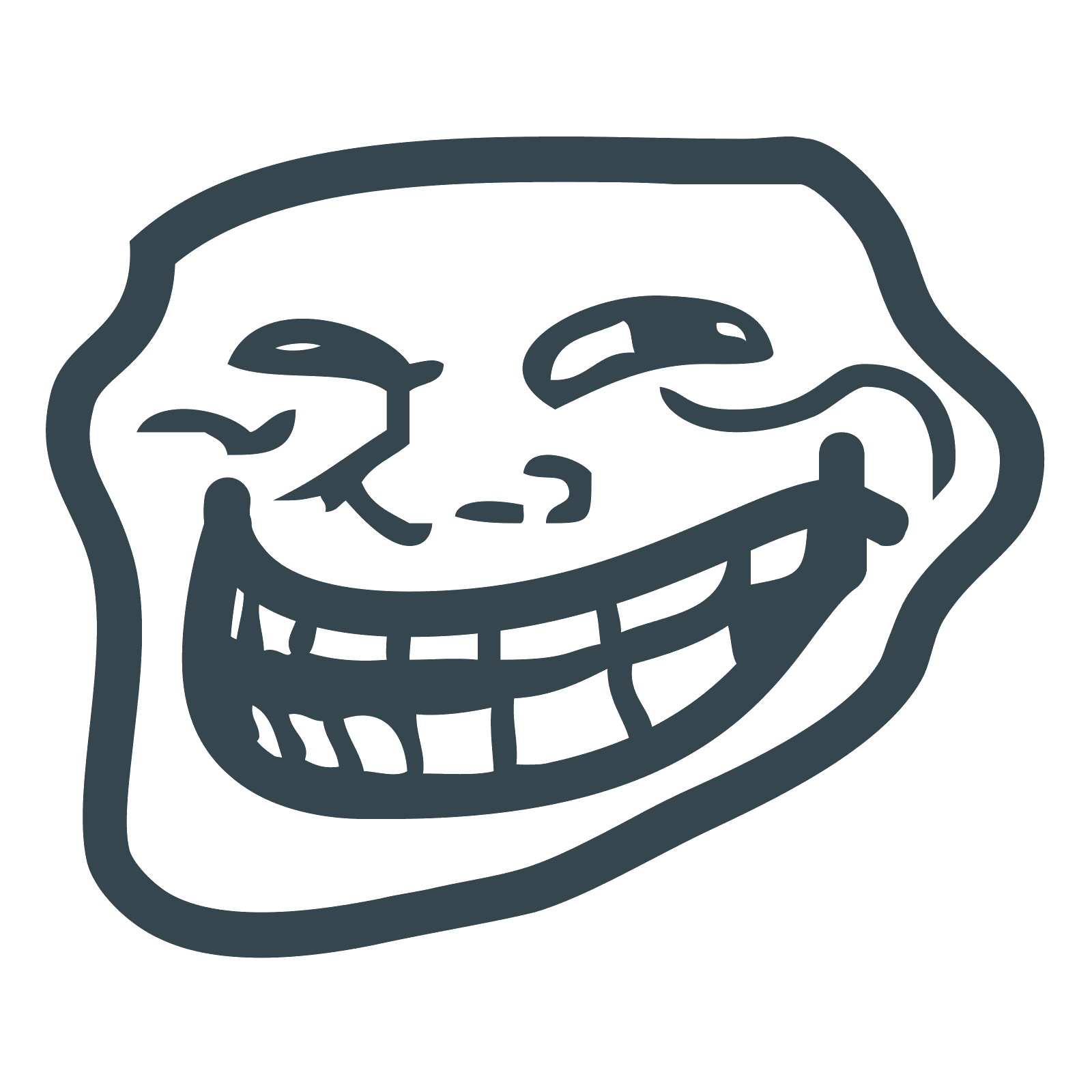 Troll face meme png. Trollface icon free download