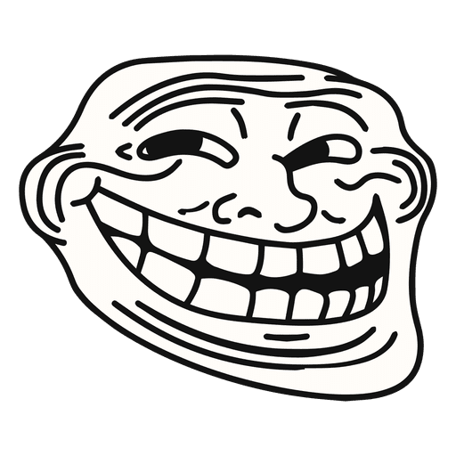 Trollface png transparent. Coolface meme svg vector