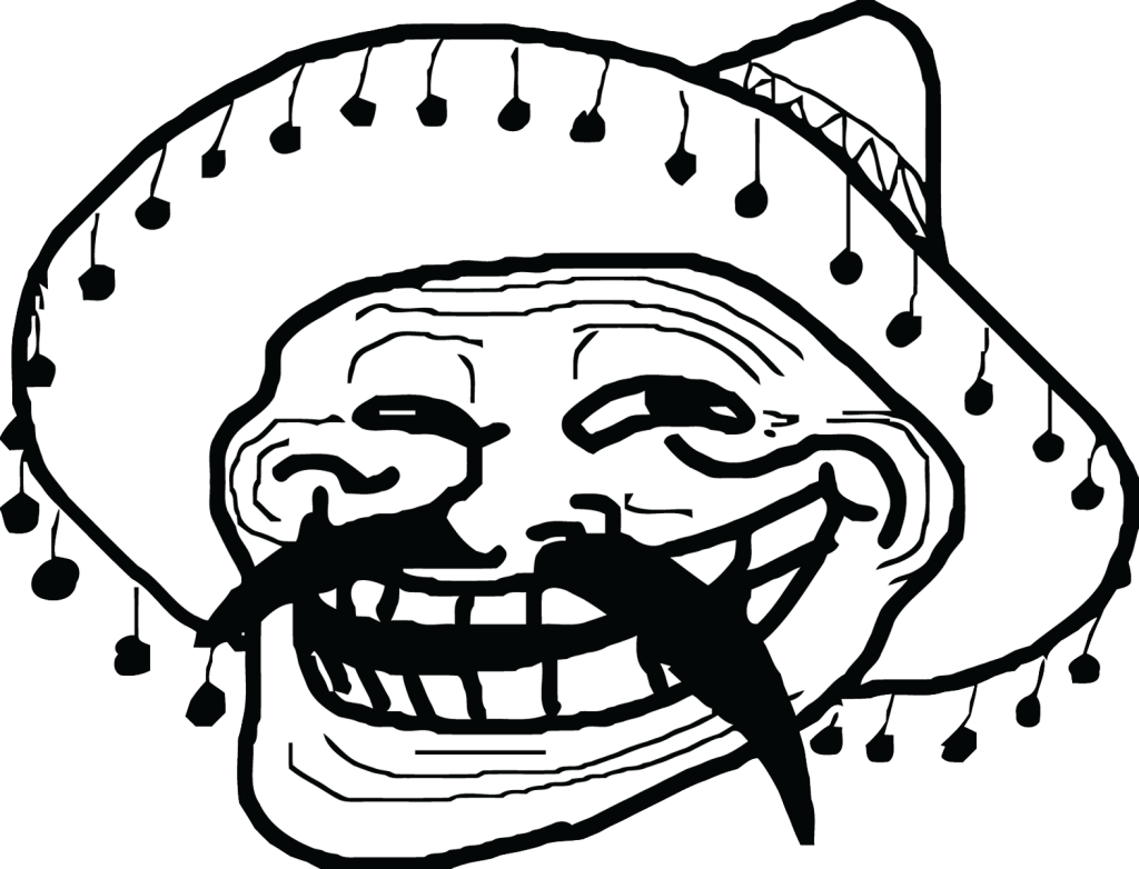Troll face png no background. Mexican meme transparent stickpng