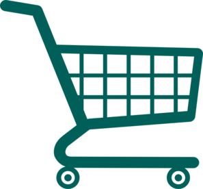 Trolley vector cartoon. Shopping cart clipart at