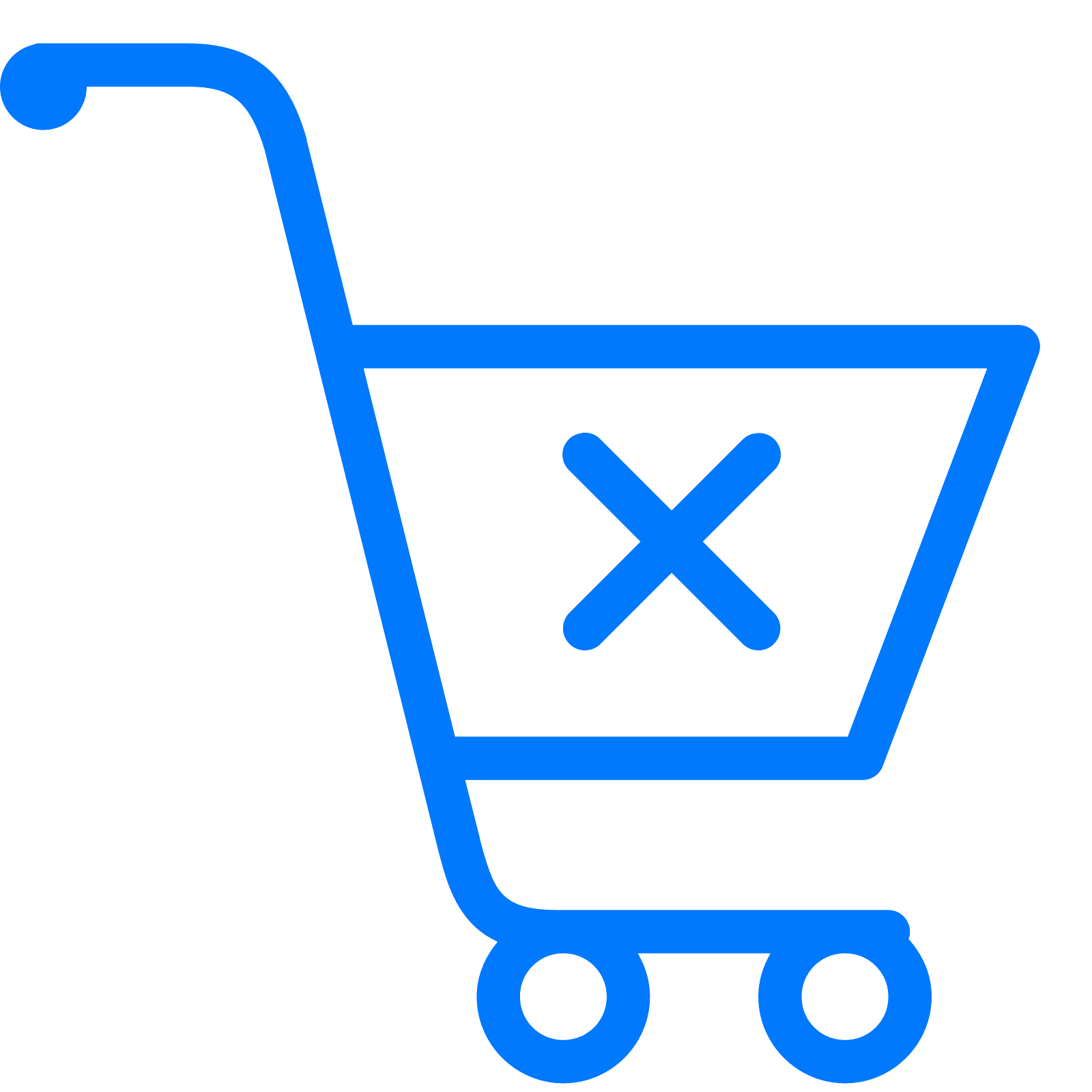 Trolley vector empty. Clear shopping cart icon