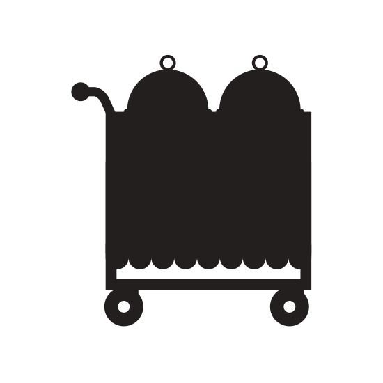 Trolley vector food. Service icons by canva