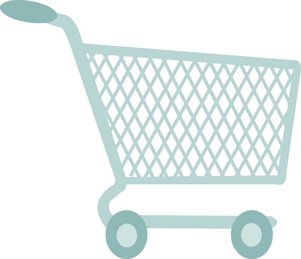 Trolley vector grocery cart. Shopping icons png