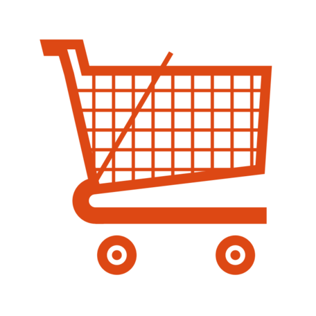 Trolley vector red. Free shopping cart clipart