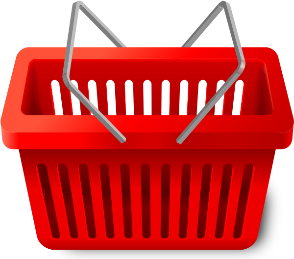 Trolley vector red. Shopping cart png images