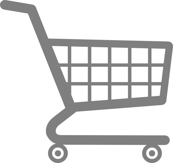 Trolley vector cartoon. Grocery cart icons png
