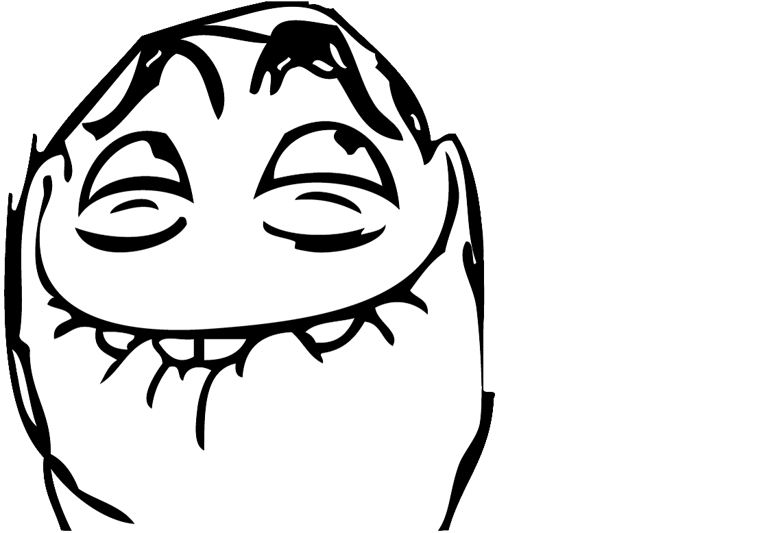 Memes faces transparent png. Mouth closed troll face