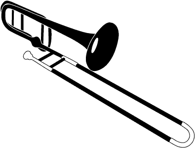 Trombone clipart marching band instrument. Free cliparts download clip