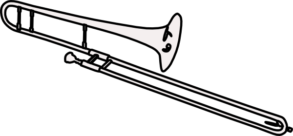 Trombone clipart black and white. Clip art at clker
