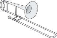 Trombone clipart black and white. Search results for clip