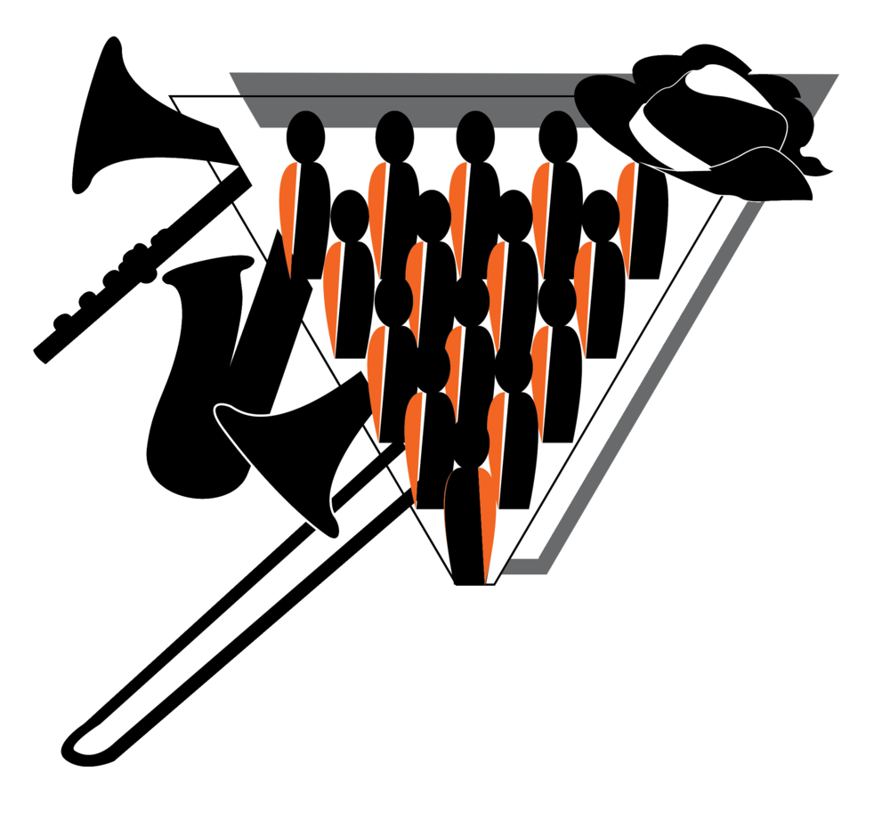 Trombone clipart marching band instrument. Coldwater high school angela