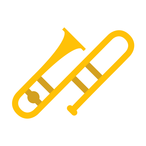 Trombone clipart yellow. Download png photo toppng