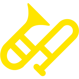 Trombone clipart yellow. Free icon download