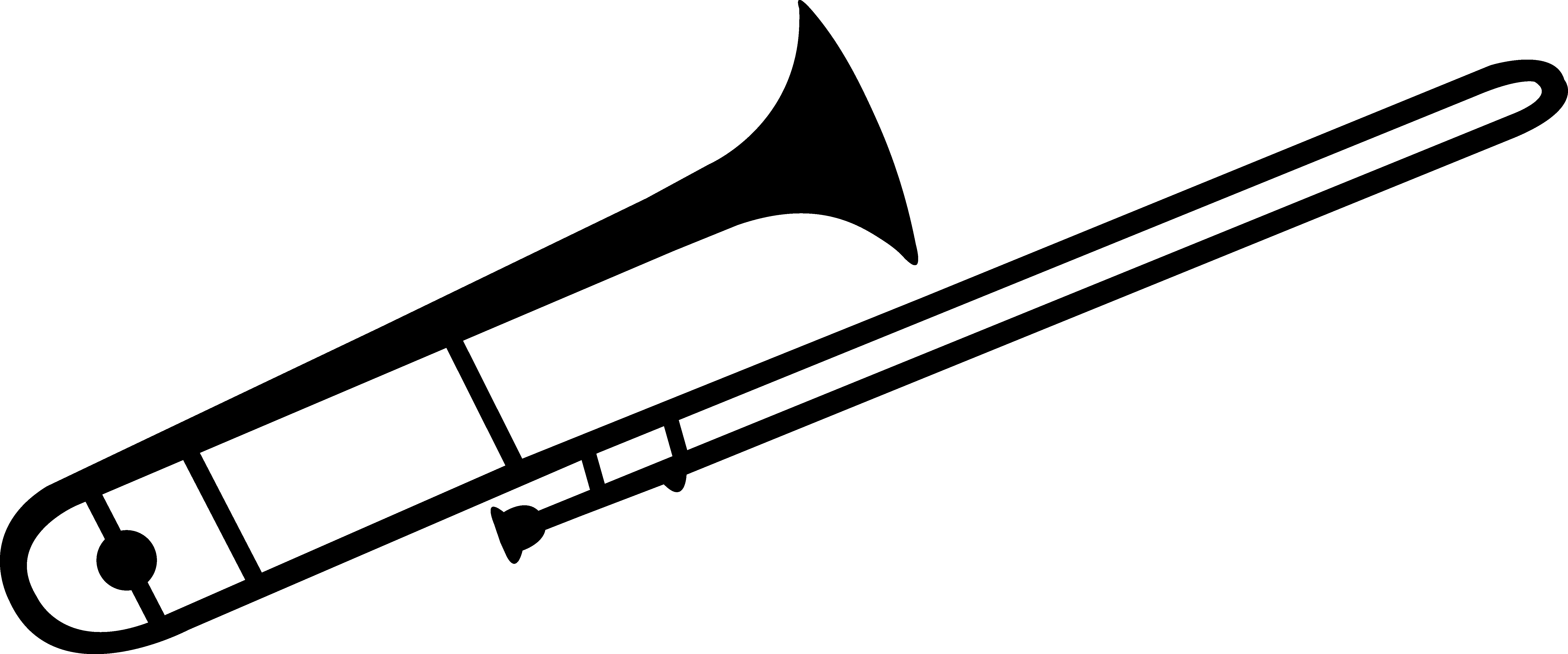 Trombone vector. Coloring page ethicstech org