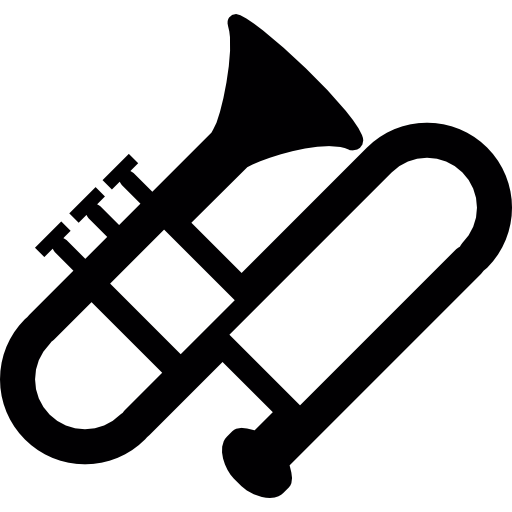 Trombone vector. Instrument free music icons