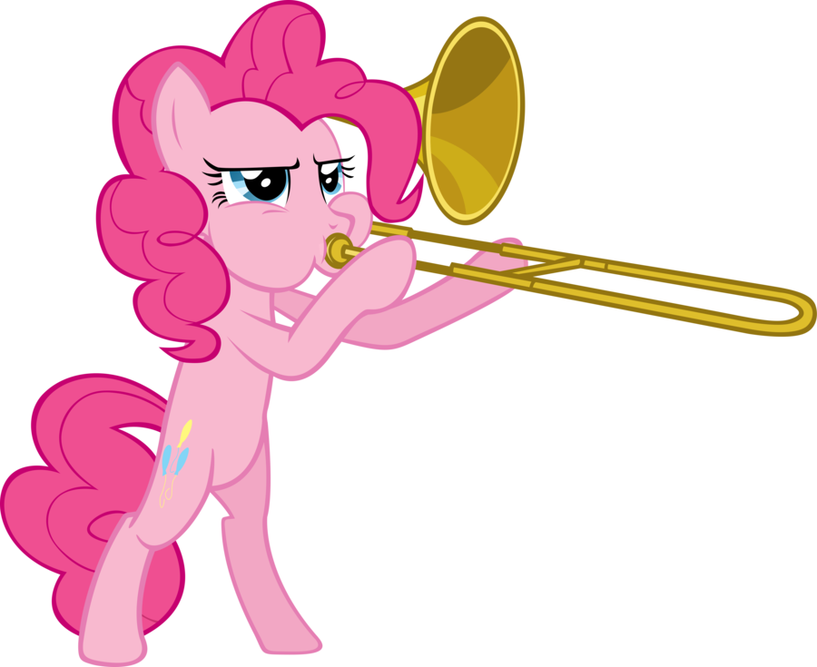 Trombone vector cartoon. Is serious business by