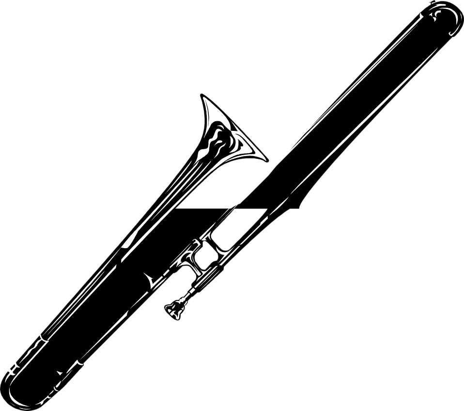 Free stock photo illustration. Trombone vector flute royalty free library