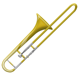 Trombone vector golden. Wind instruments px icon