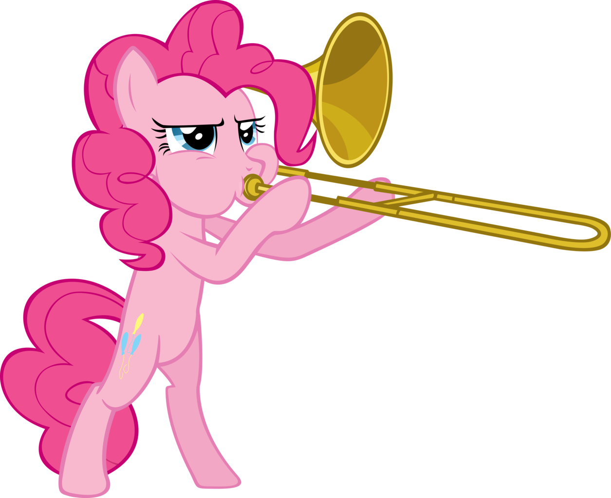 Trombone vector transparent. Artist spaceponies pinkie