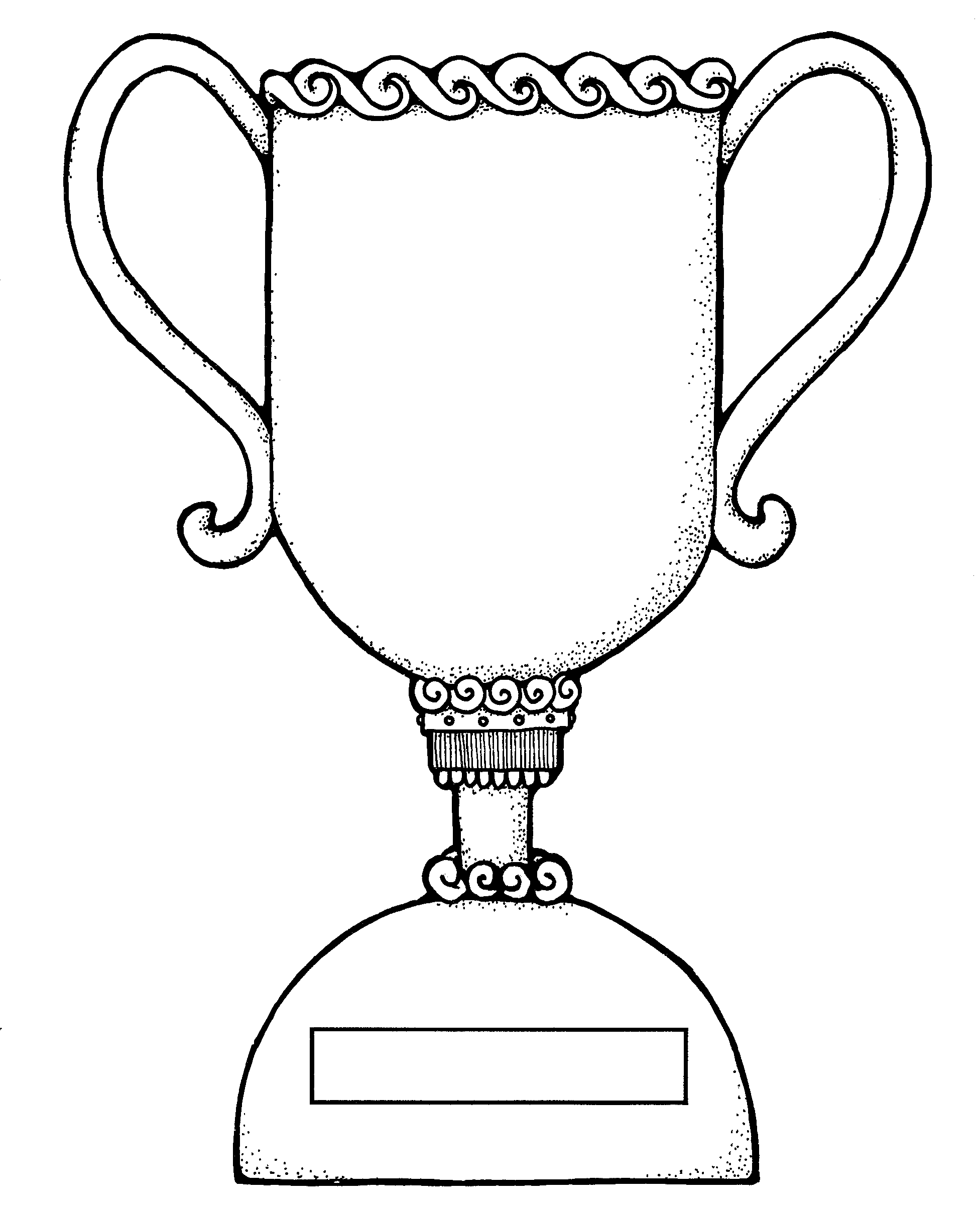 Trophy clipart drawing. Drawings of trophies colouring