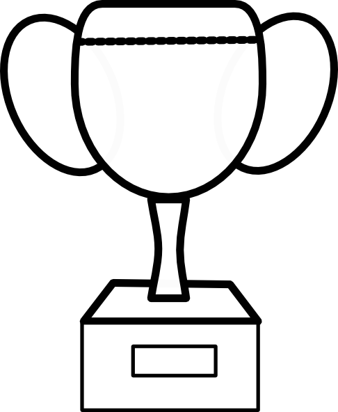 Trophy clipart drawing. Basketball clip art library