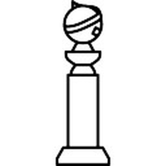 Trophy clipart drawing. Golden globe pencil and