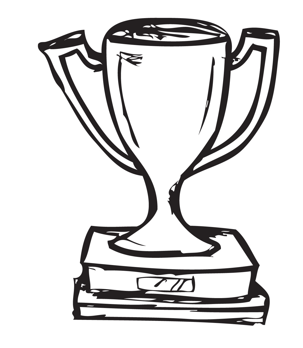 Trophy clipart drawing. Line at getdrawings com