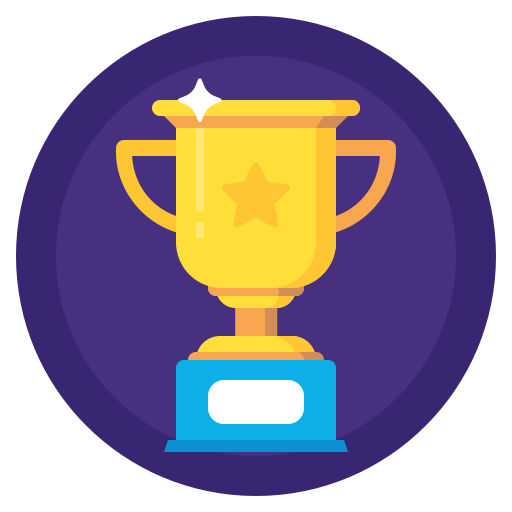 Trophy icon png. Sport achievment badges by