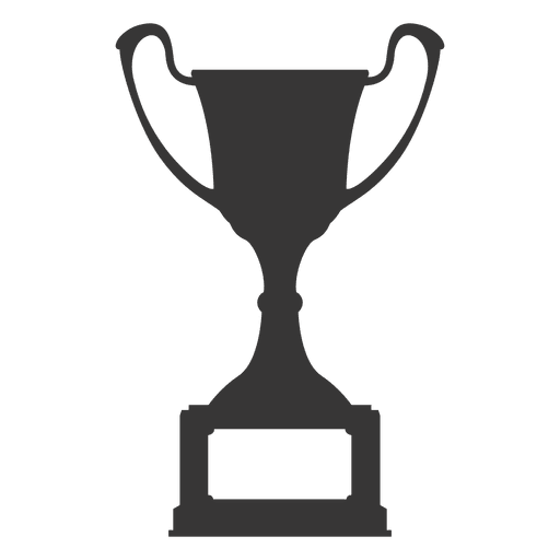 Champion trophy transparent png. Vector award silhouette clipart free stock