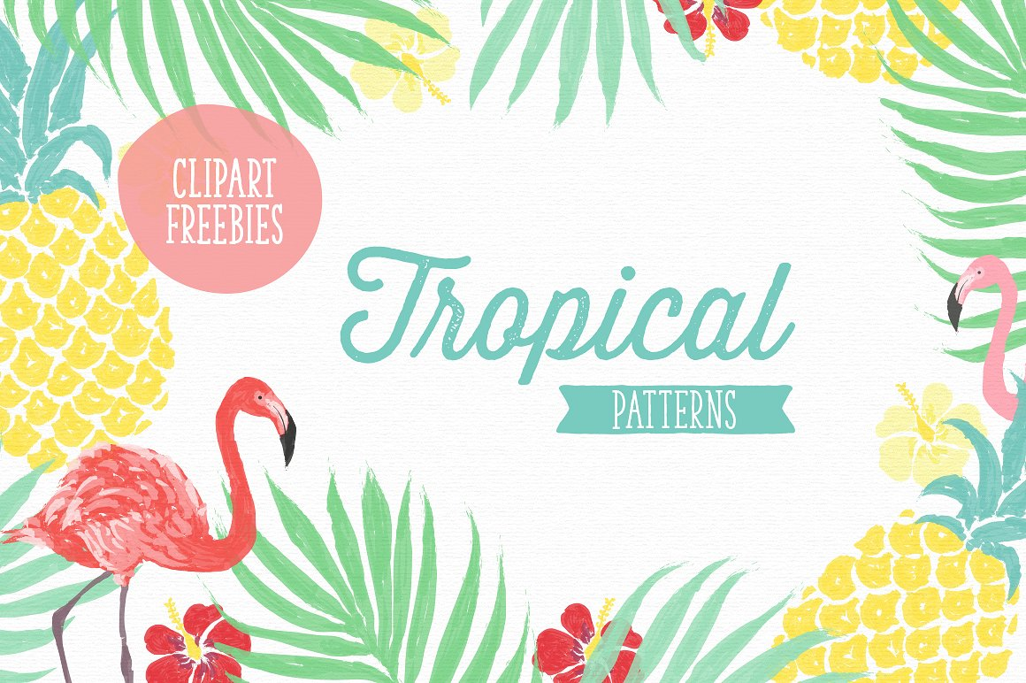 Tropical clipart tropical theme. Vector patterns graphic