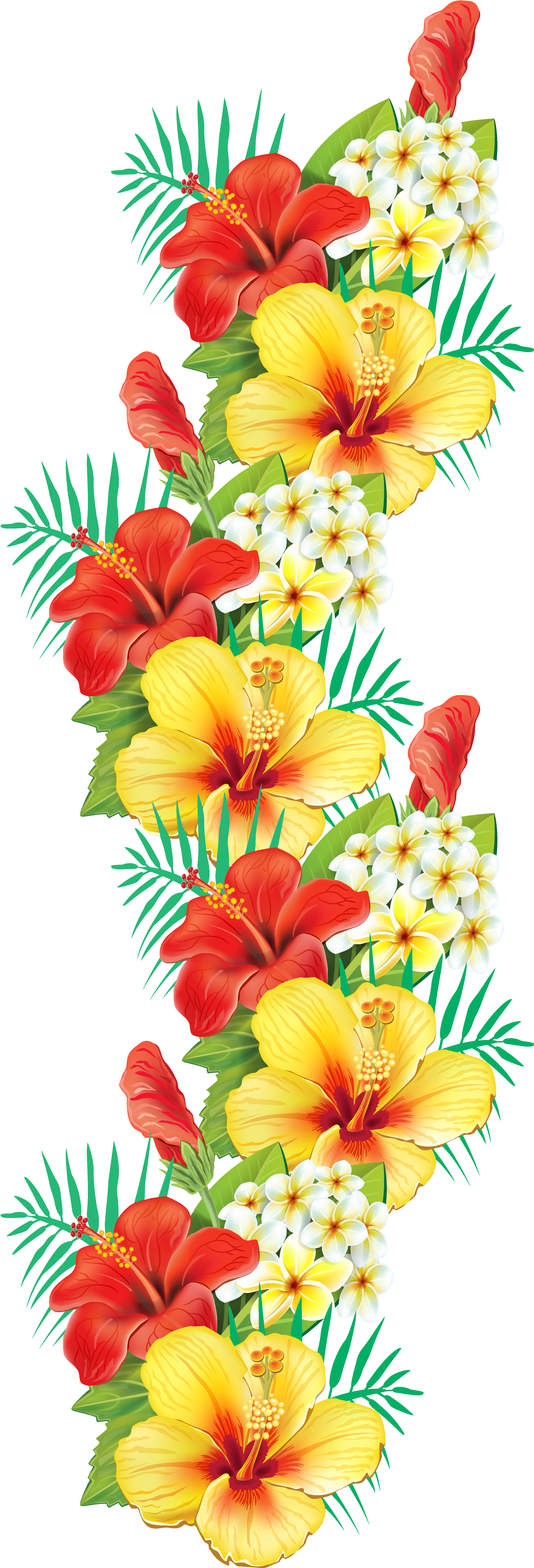 Tropical Floral Background Png Picture 408911 Tropical Floral