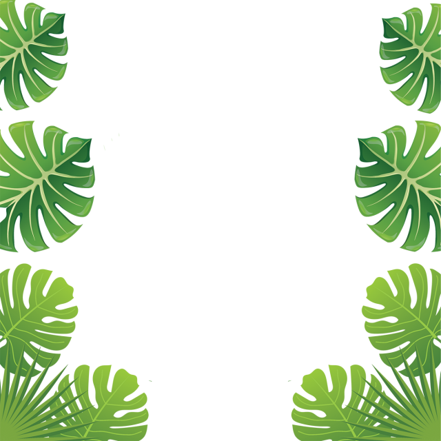 Aloha tropical leaf flowers. Leave vector line clip art royalty free
