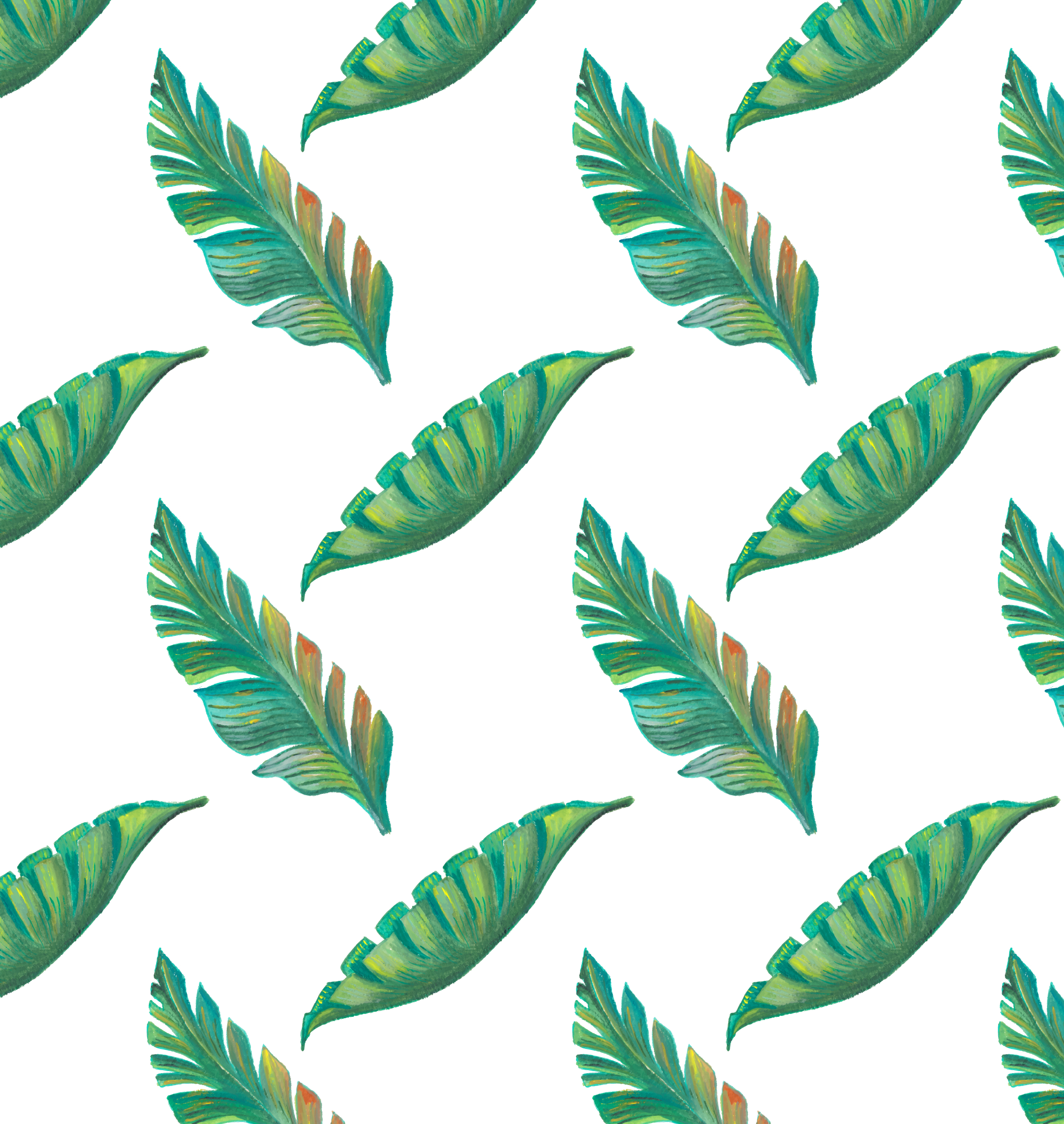 Tropical leaf pattern png. Tropics drawing hand painted