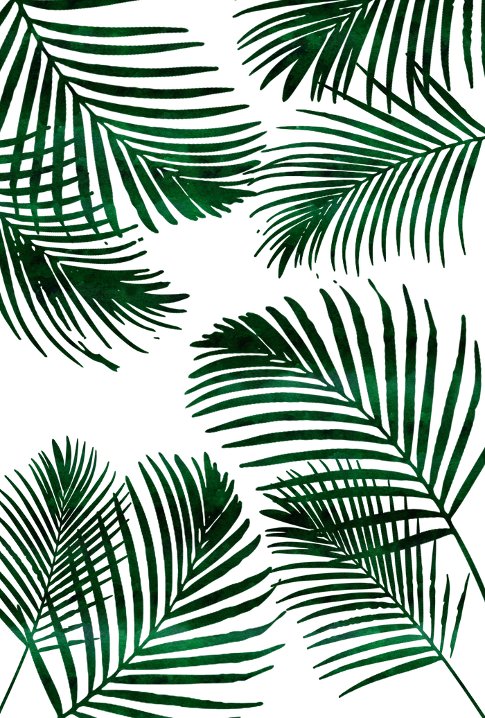 Tropical palm png. Leaf beach towel by