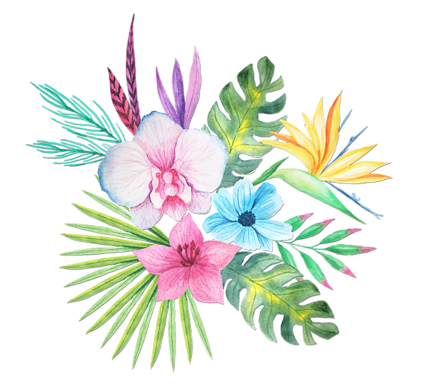 Tropical watercolor png. Bouquet onesie for sale