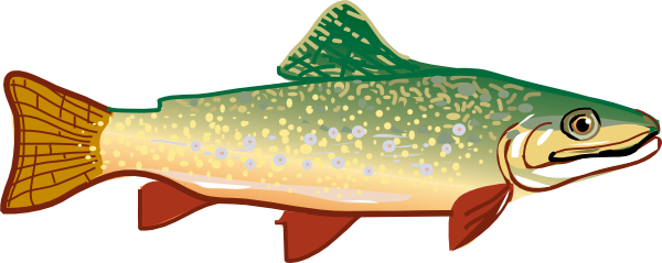 Fishing clip trout. Fish clipart