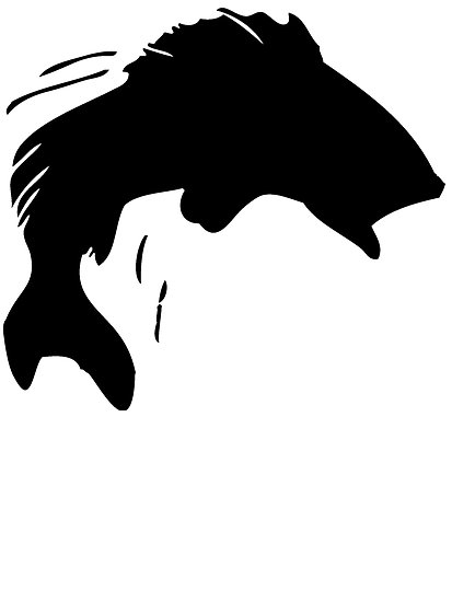 Trout clipart bass silhouette. Fish images at getdrawings