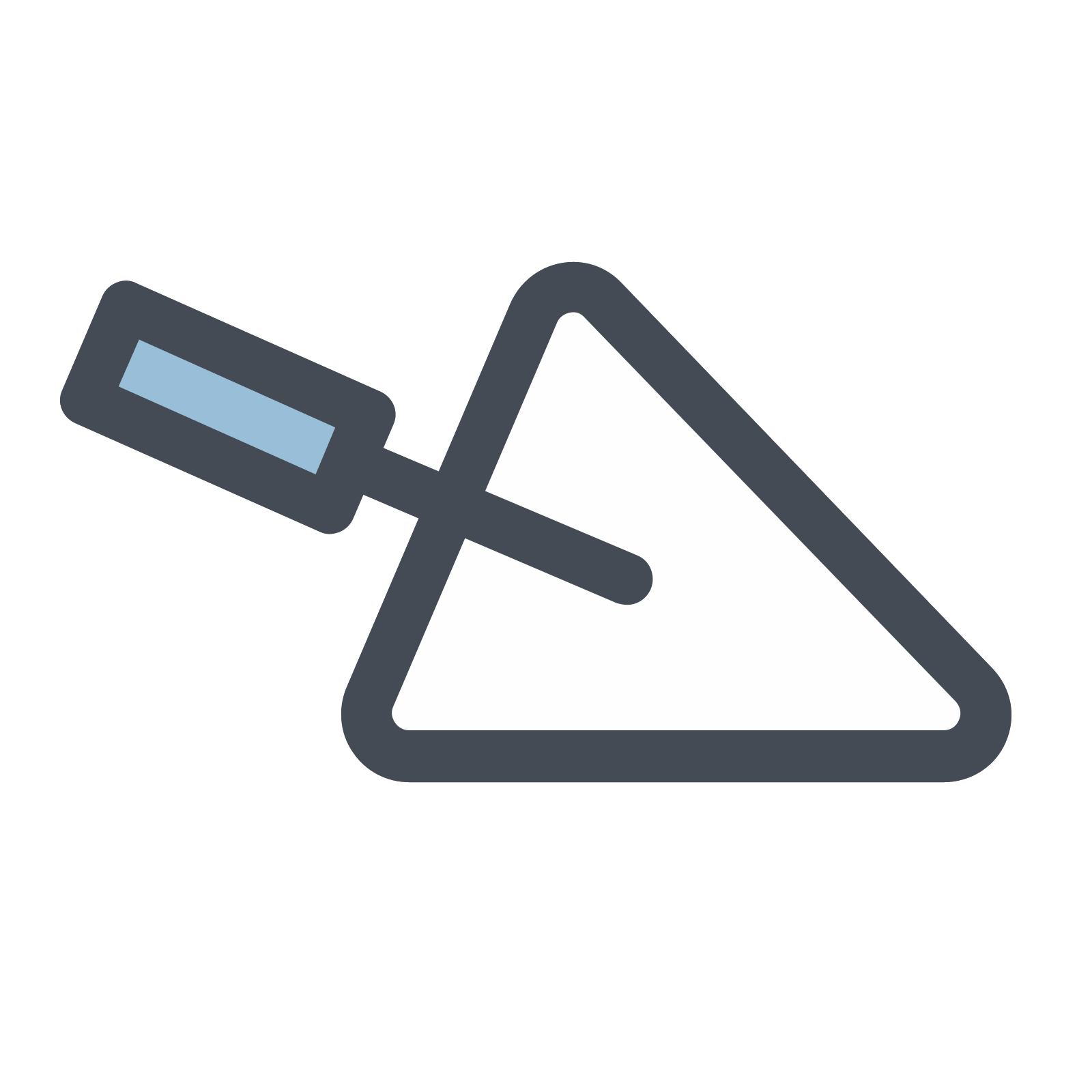 Trowel vector. Icon free download png