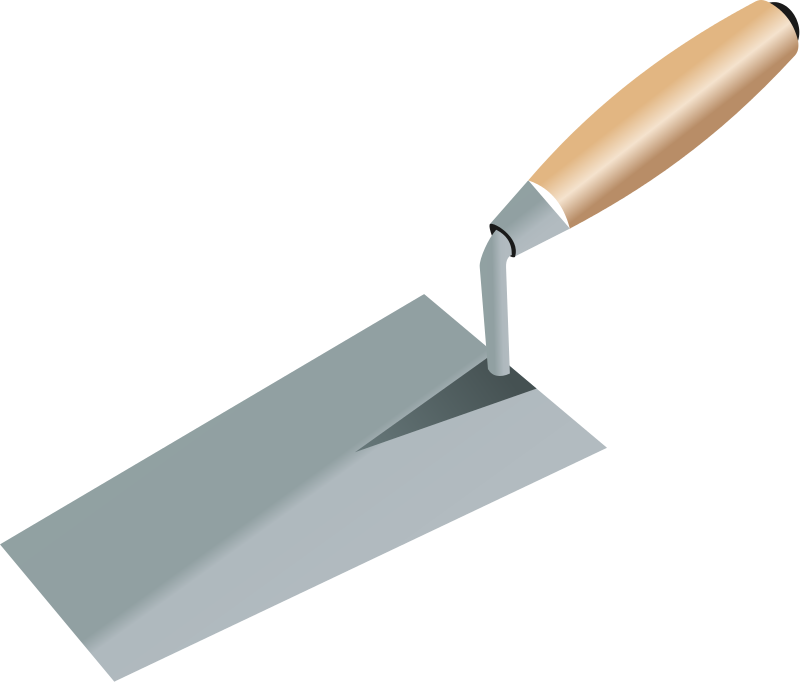 Trowel vector concrete. Free pics of tools