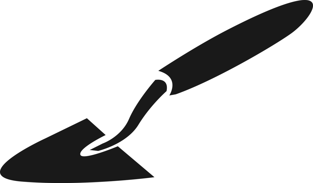 Trowel vector. Digging and smoothing tool